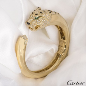Cartier Yellow Gold Diamond Panthere De Cartier Bracelet N6035317